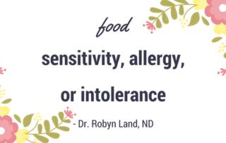 Food Sensitivity Header