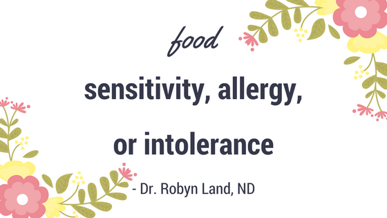 Food Sensitivity Header