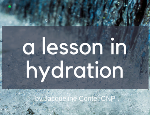 A Lesson in Hydration