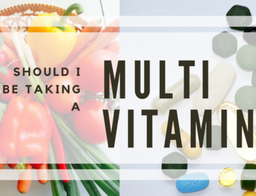 Should I be taking a multi-vitamin?
