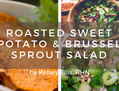 Roasted Sweet Potato & Brussels Sprout Salad